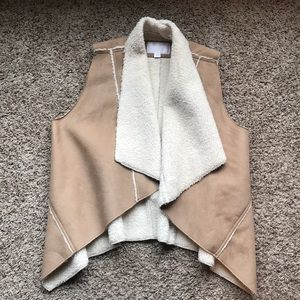 Suede and Sherpa vest